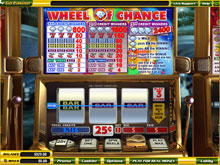 3 Reel Wheel of Chance Slot